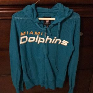 NFL Miami Dolphins zippered hoody